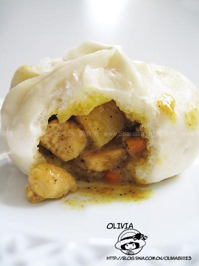 咖喱鸡肉包