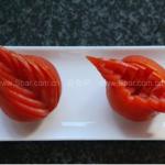 西红柿盘边装饰切法(水果拼盘-盘饰围边)