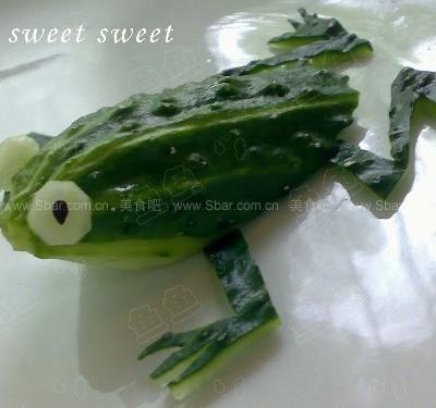 黄瓜小青蛙的做法