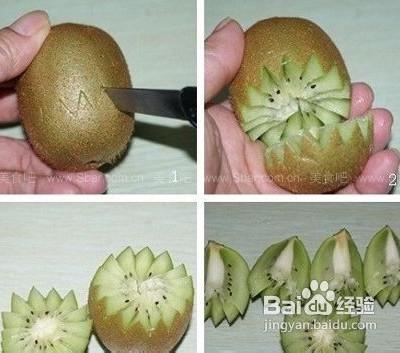 制作欧式蛋糕的水果的切法