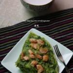 菠菜鲜虾蛋饼(高考菜谱)