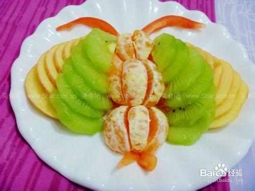 蝴蝶水果拼盘