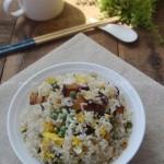 腊肉蛋炒饭(剩米饭新吃法)