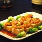 豆腐酿虾仁(母亲节菜谱)
