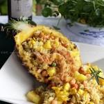 泰式菠萝海鲜炒饭(东南亚风情菜谱)
