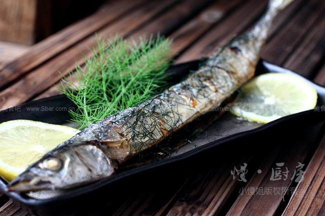 茴香烤秋刀鱼
