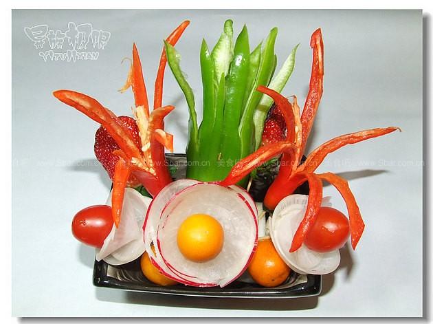 如何把蔬菜变成花