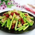 蒜苔炒扇贝肉