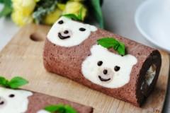可爱小熊蛋糕卷