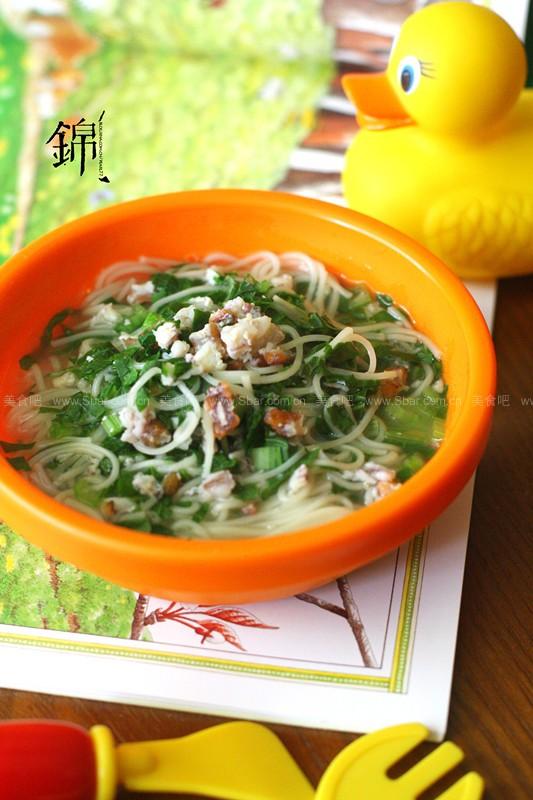 皮皮虾青菜汤面