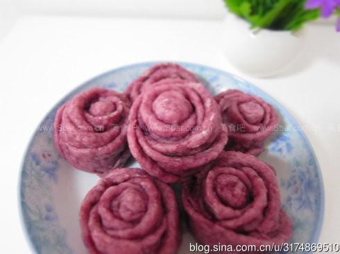 紫薯玫瑰卷