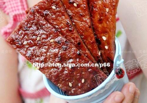 平底锅版蜜汁猪肉脯(自制健康零食)