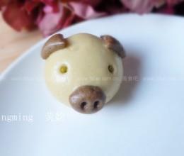 小米面粉猪猪豆沙包