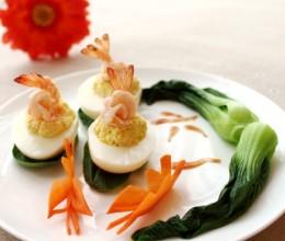 鲜虾豆腐酿天使蛋