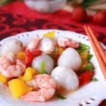 荔枝虾球(水果入菜)