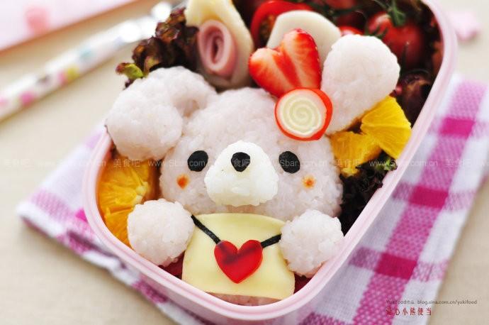 爱心小熊便当的做法【图解】_爱心小熊便当的家常做法