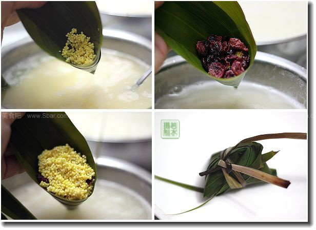 蔓越莓粽子(粽子的做法)的做法步骤