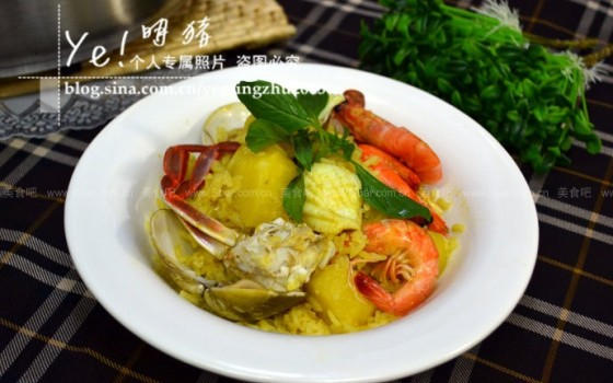 咖喱海鲜焗饭
