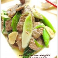 青蒜炒豬肝