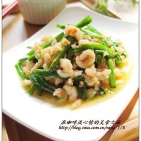韭菜炒蝦絲