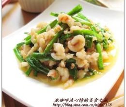 韭菜炒虾丝