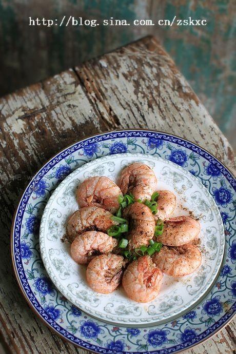 微波黑椒虾
