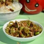 酱豆腌蒜苗(土家族菜谱)