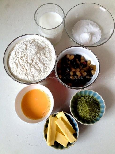 面包机版抹茶蜜豆吐司