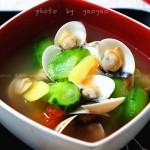 白贝丝瓜汤(开胃又清热解暑的海鲜汤)
