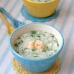 青菜鲜虾粥(老少皆宜、健脑补钙)