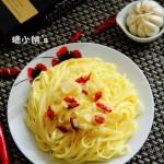 蒜辣意面(早餐菜谱)