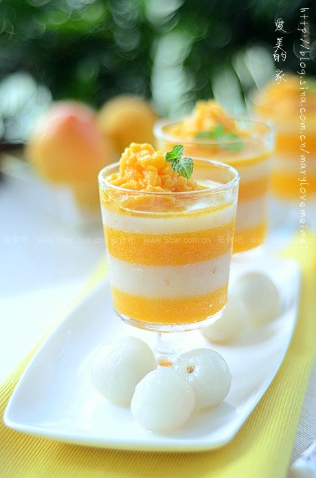 荔枝黄桃果冻