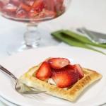 醋渍草莓奶油挞