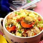 海鲜蛋炒饭(早餐菜谱)