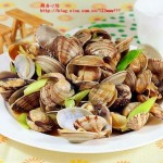 姜丝炒蛤蜊