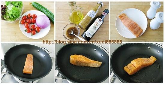 香煎三文鱼沙拉