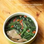 菠菜猪肝汤(养颜补血滋肝明目)