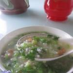 青菜瘦肉杂粮粥(早餐菜谱)