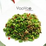 肉沫橄榄炒豆角(有滋有味易下饭的家常菜)