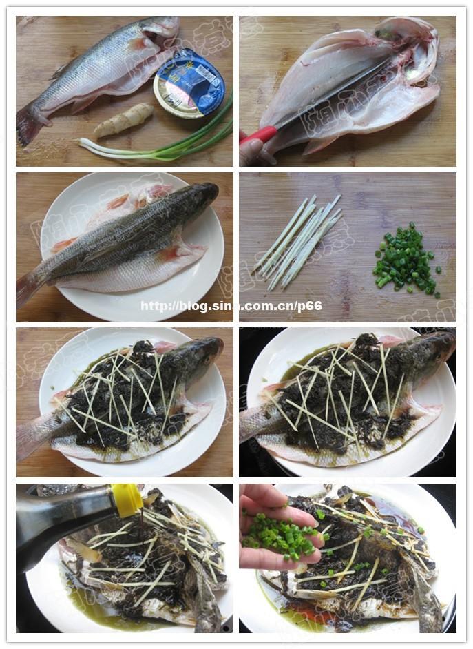 榄菜蒸鲈鱼