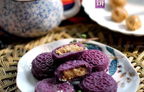 紫薯月餅(免烤、無油、無脂、低糖、健康)