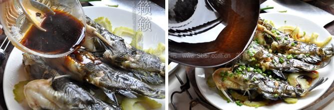 君子菜蒸黄颡鱼