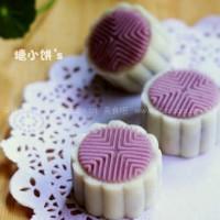 低糖低油紫薯冰皮月饼