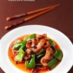 青椒豆豉盐煎肉(川菜美味)