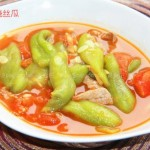 番茄烩丝瓜(保健美容菜谱)
