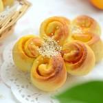 南瓜花朵包(早餐菜谱)