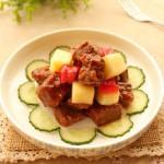 苹果煎牛肉VS苹果煎牛肉烩藜麦饭