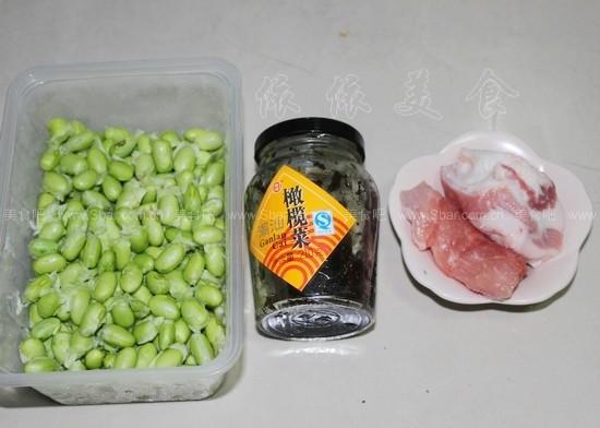 菜肉丁炒毛豆