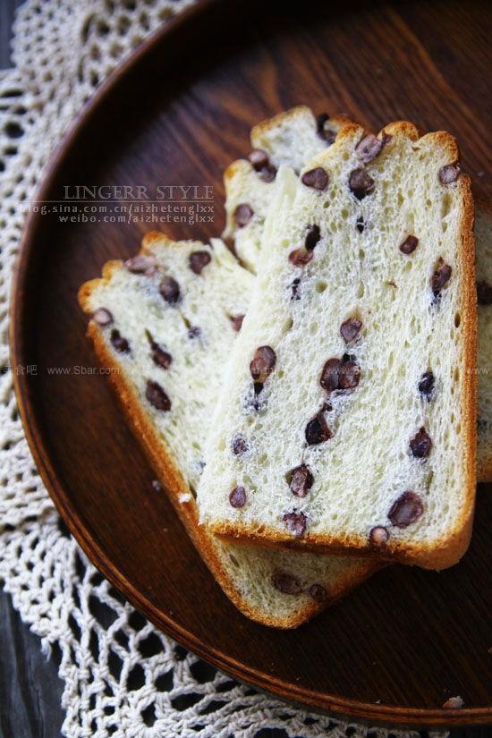面包机版淡奶油红豆吐司