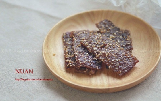 蜜汁黑胡椒猪肉脯(自制健康小零食)